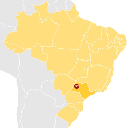Mapa do Brasil apontando para a localização da empresa 23238caca72